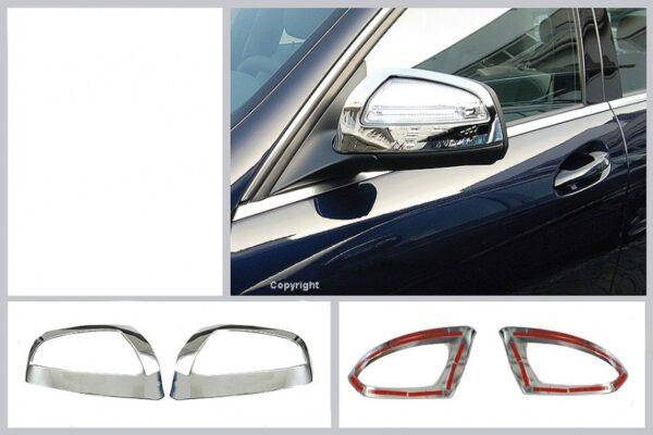 Καπάκια καθρεπτών χρωμίου για Mercedes Benz C-Class W204