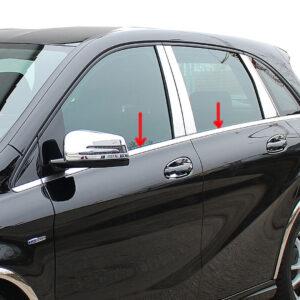 Γυαλισμένες ανοξείδωτες βέργες για τα τσιμουχάκια παραθύρων για Mercedes Benz B-Klasse W246