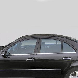Γυαλισμένες ανοξείδωτες βέργες για τα τσιμουχάκια παραθύρων για Mercedes Benz C-Class W203