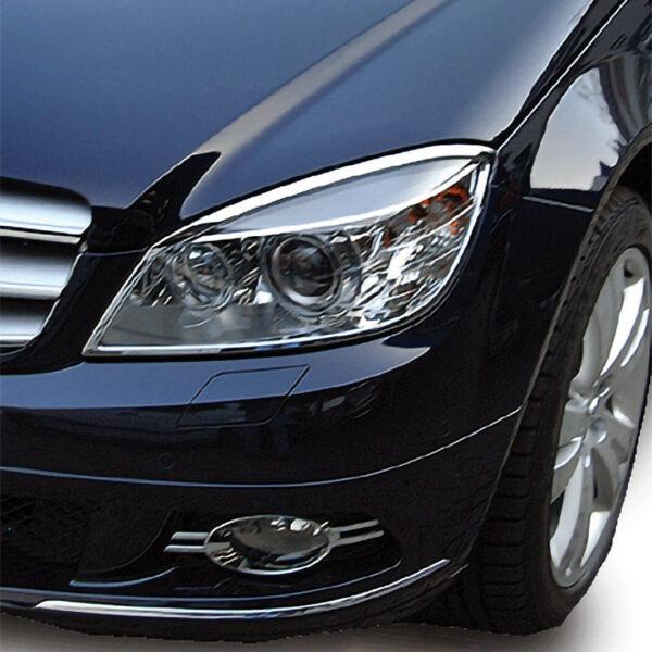 Χρώμια προβολέων για Mercedes Βenz C-Class W204