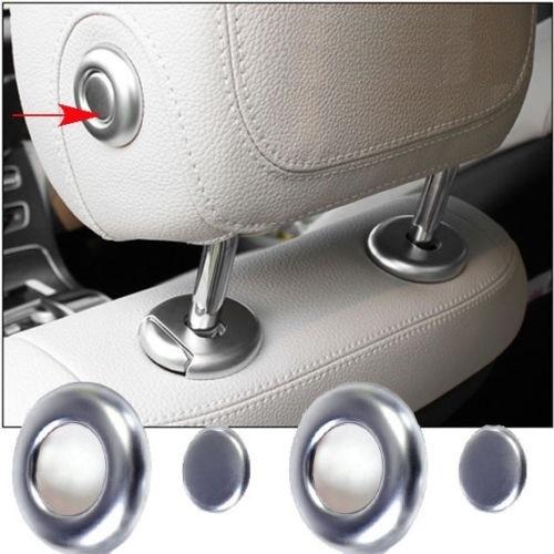Πλαϊνά καπάκια χρωμίου κουμπιού μαξιλαριών για Mercedes Benz