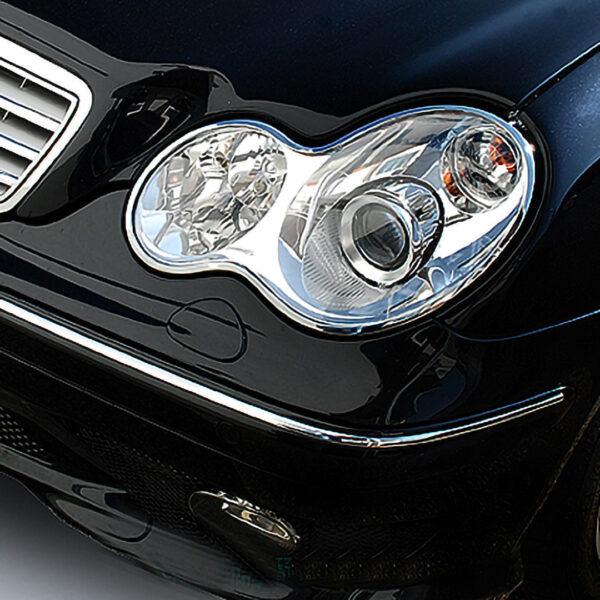 Χρώμια προβολέων για Mercedes Βenz C-Class W203