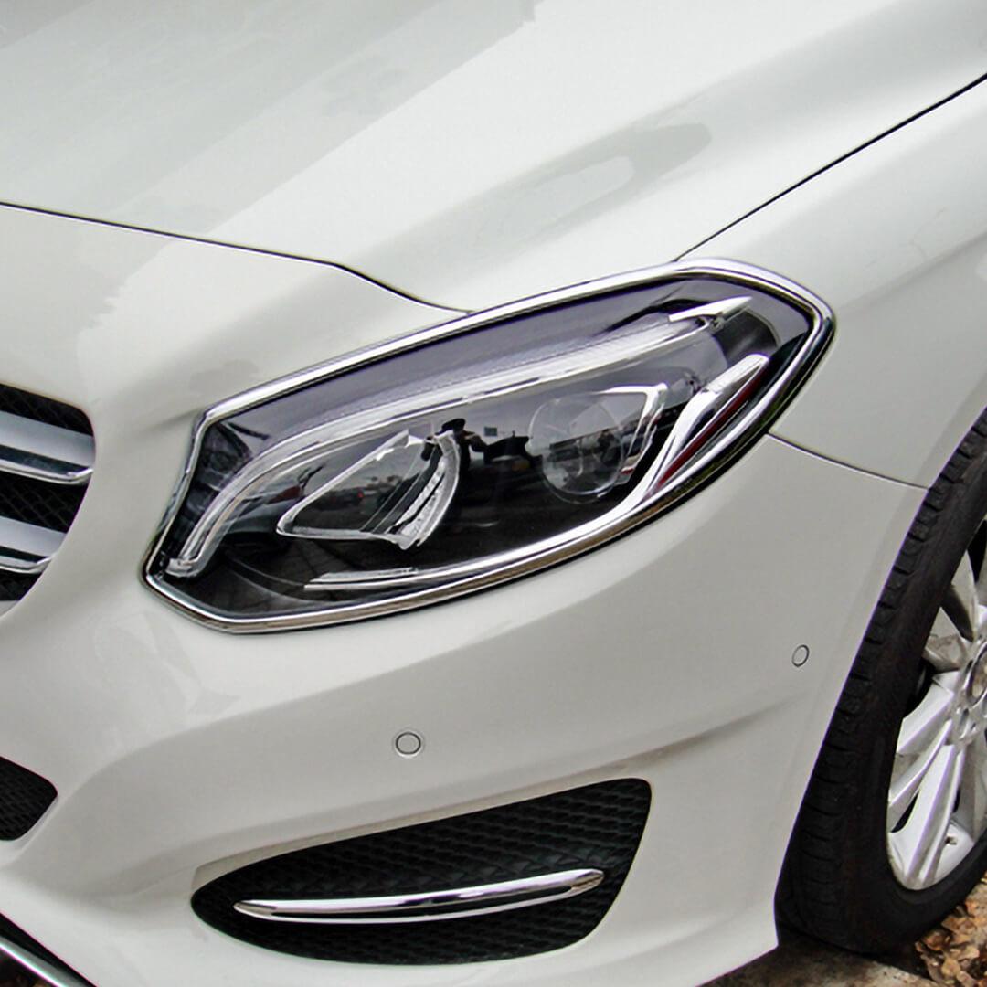 Χρώμια προβολέων για Mercedes Βenz B-Class W246 από 11/2014.