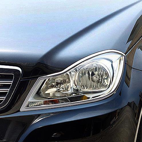 Χρώμια προβολέων για Mercedes Βenz C-Class W204 + C-Coupe