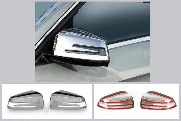 Καπάκια καθρεπτών χρωμίου για Mercedes Benz | Δεξί και Αριστερό