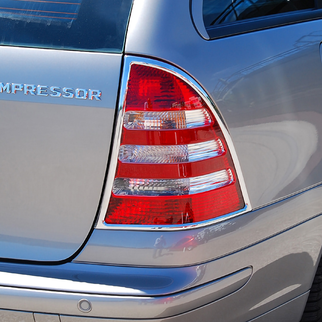 Χρώμια πίσω φαναριών για Mercedes Benz C-Class W203 T-μοντέλα