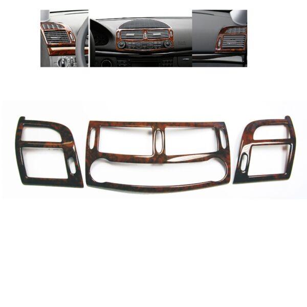 Ξύλινη επένδυση μπροστινών αεραγωγών Wurzel για Mercedes Benz W211