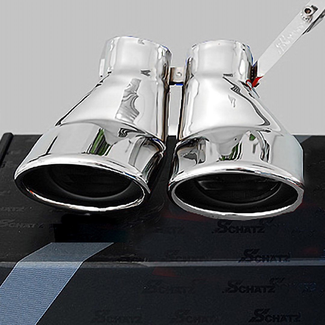 Χρώμιο διπλής εξάτμισης για Mercedes Benz C-Class W203 λιμουζίνα