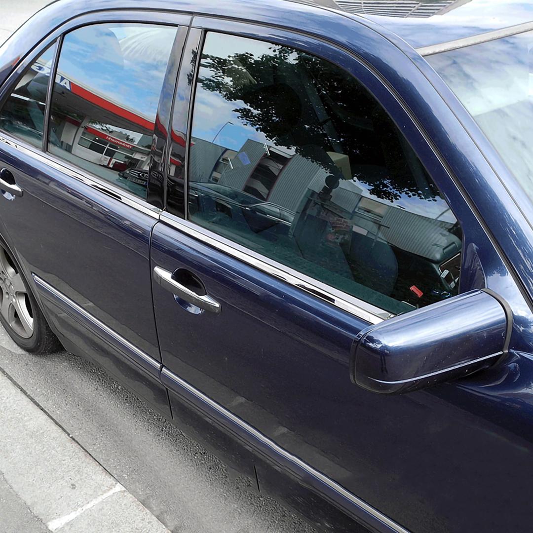 Γυαλισμένες ανοξείδωτες βέργες για τα τσιμουχάκια παραθύρων για Mercedes Benz C-Class W202
