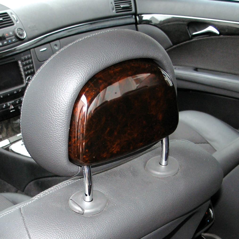 Οπίσθια ξύλινη επένδυση Laurel μπροστινών μαξιλαριών για Mercedes Benz C-Class W203