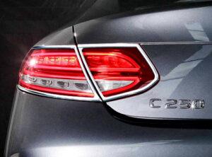 Χρώμια πίσω φαναριών για Mercedes Benz C-Class Coupé/Cabrio C/A 205