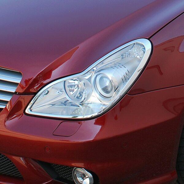 Χρώμια προβολέων για Mercedes Benz CLS C219 03.2004–03.2011