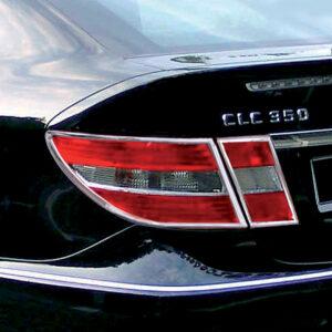 Χρώμια πίσω φαναριών για Mercedes Benz CLC CL203 04/2007-05/2011