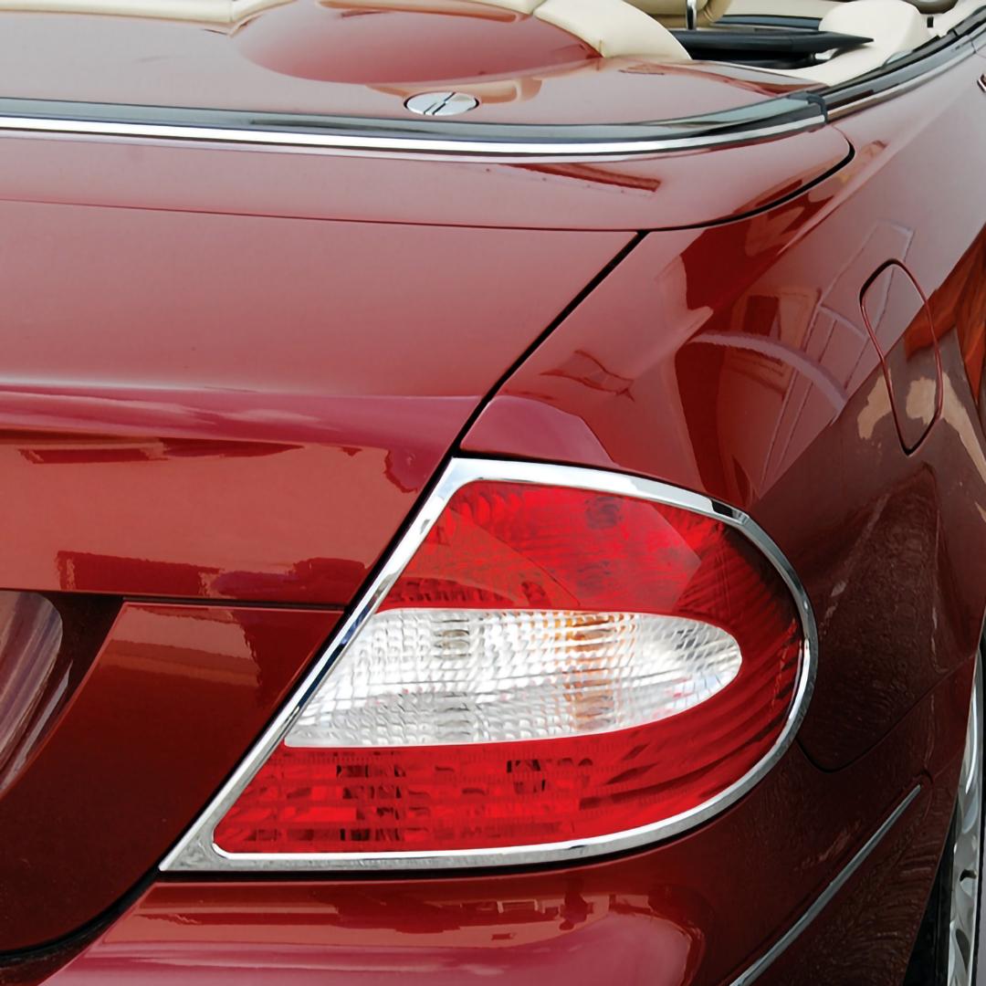 Χρώμια πίσω φαναριών για Mercedes Benz CLK W209 Coupe/Cabrio 2002 - 2010