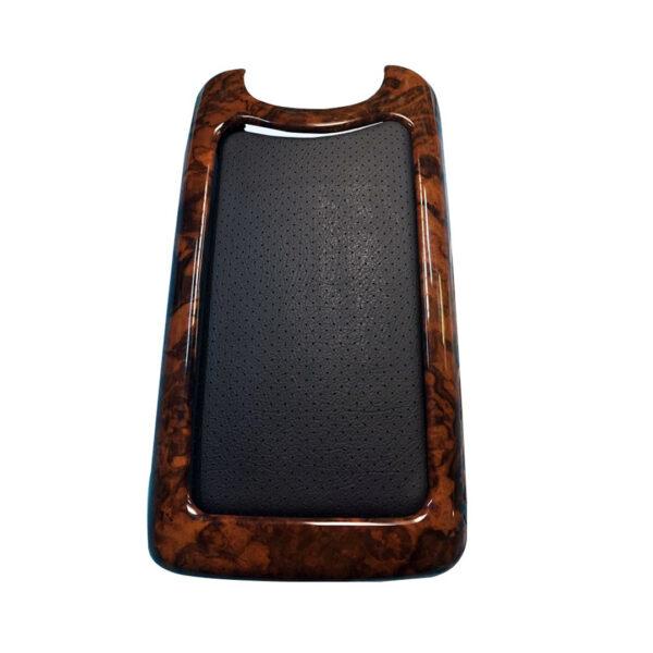 Βραχιόνιο με ξύλινη επένδυση Burl /Wurzel με μαύρο δέρμα για Mercedes Benz CLK W209