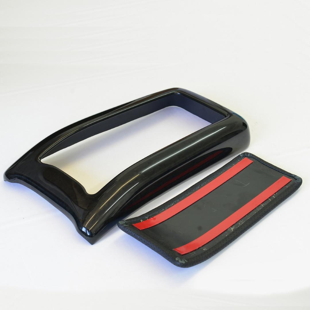 Βραχιόνιο με ξύλινη επένδυση Birdeye Black / Vogelaugenahorn με δέρμα μαύρο για Mercedes Benz CLK W208