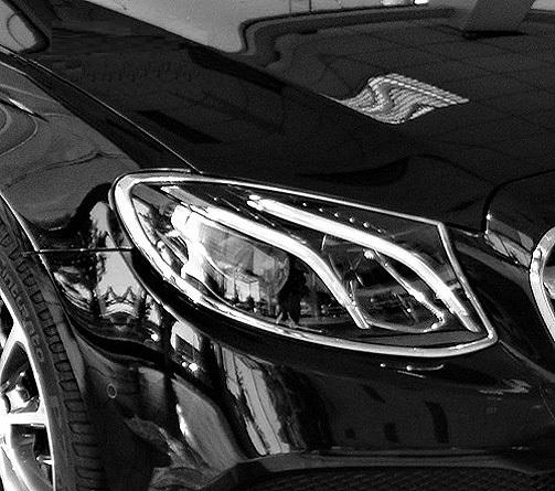 Chrome Head Light Frames for Mercedes Benz E Class W213 Sedan S213 Station Wagon, from 03.2016-06.2018