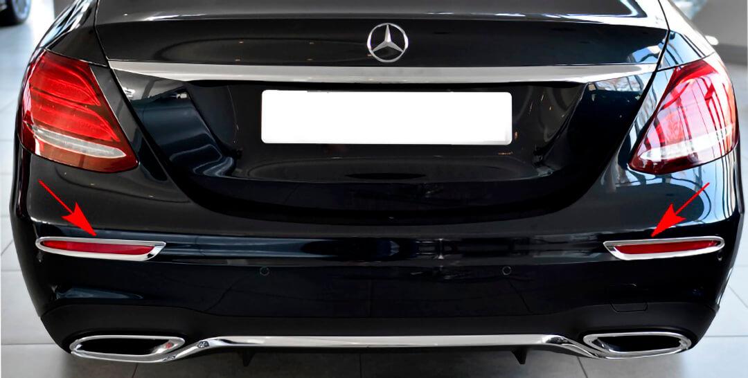 Chrome Reflector Frames for Mercedes Benz E Class W213 Sedan from 03.2016.