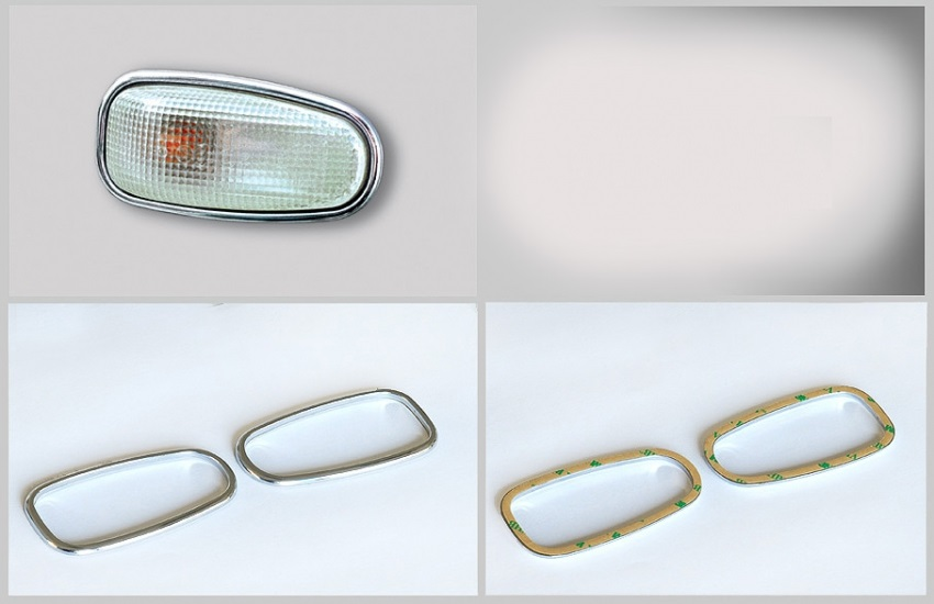 Στεφάνια χρωμίου για πλευρικά φλας για Mercedes Benz
