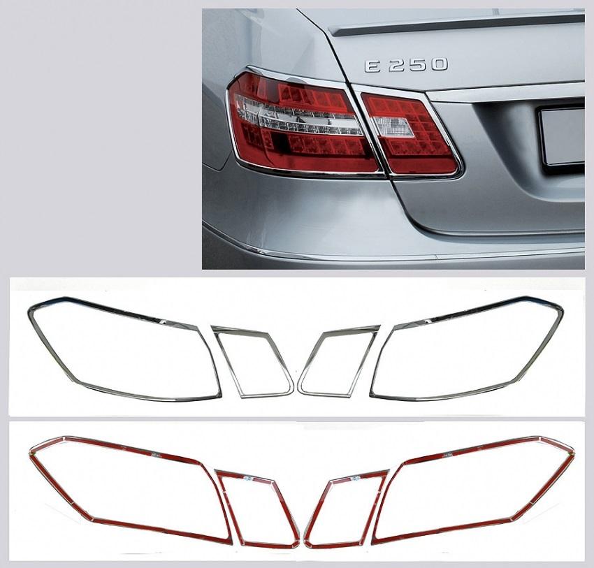 Chrome Tailligth Frames Mercedes Benz E Class W212 Sedan.Sel.3