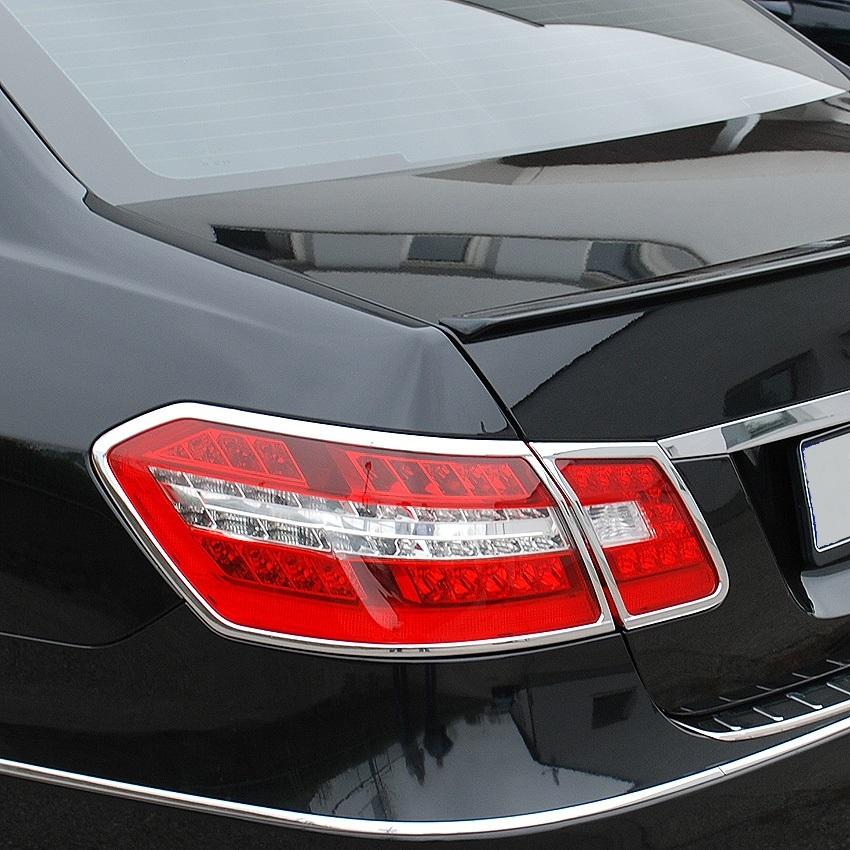 Chrome Tailligth Frames for Mercedes Benz E Class W212 Sedan 3-2009 - 04-2013.Sel,1