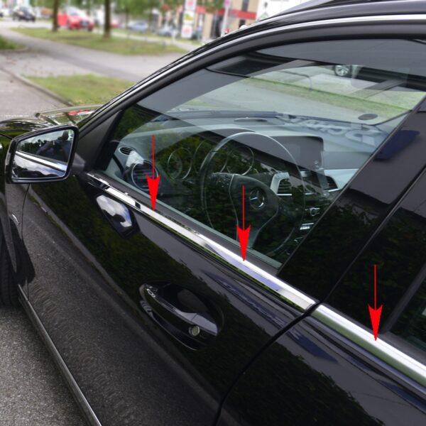 Γυαλισμένες ανοξείδωτες βέργες για τα τσιμουχάκια παραθύρων για Mercedes Benz C-Class W204