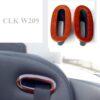 Επένδυση ξύλου ζώνης ασφαλείας για Mercedes Benz CLK W209 - Ashtree bright / Esche hell