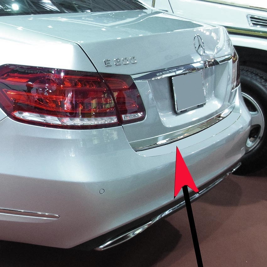 Trunk lid strip stainless steal for Mercedes-Benz E-Class W212 sedan 2009-2016 also facelift