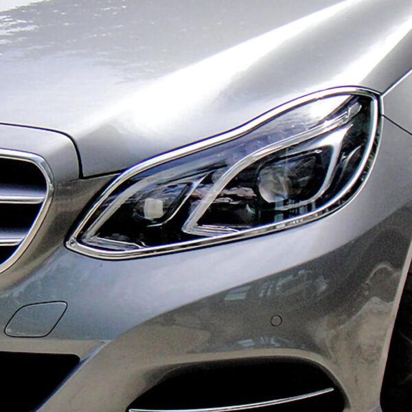 Χρώμια προβολέων για Mercedes Benz E-Class W212 λιμουζίνα / S212 T-μοντέλα από 05/2013 έως 04/2016.