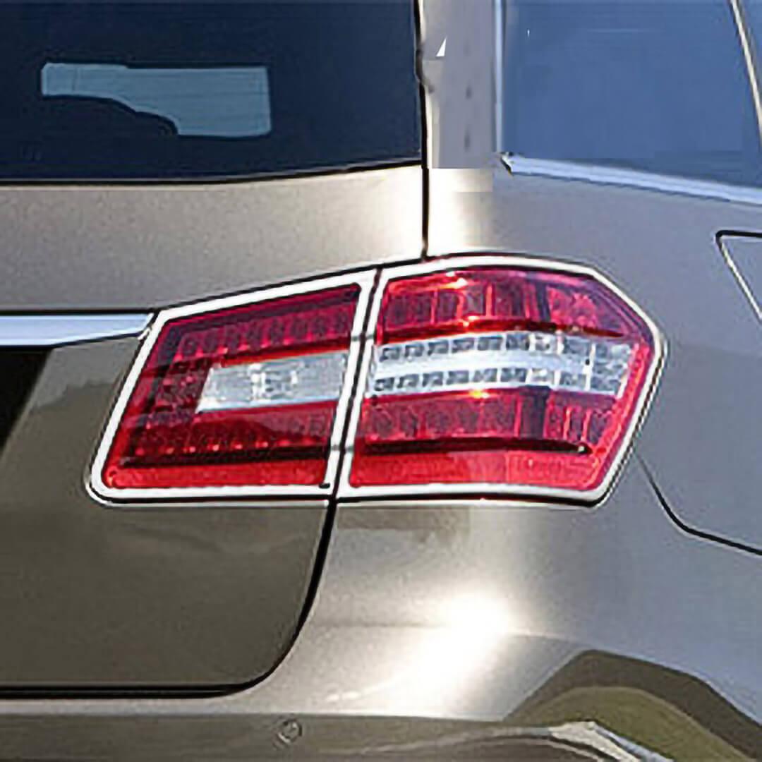 Χρώμια πίσω φαναριών για Mercedes Benz E-Class S212 T-μοντέλα από 11/2009 - 04/2013.