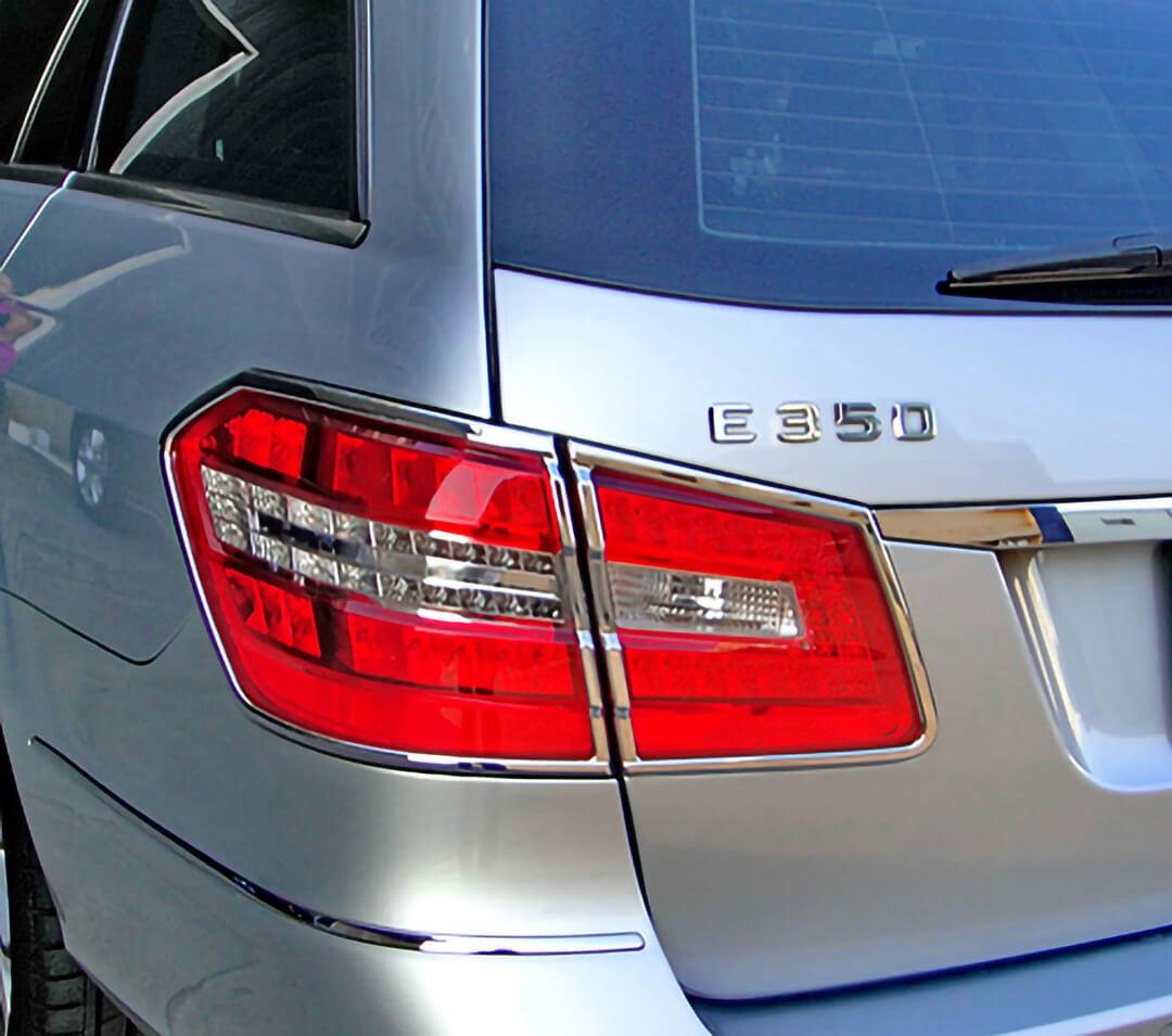 Chrome Taillight Frames for Mercedes Benz E Class W212 Station Wagon 11-2009 - 04-2013.