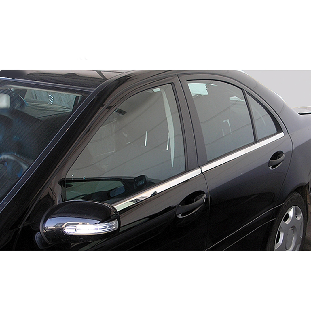 Γυαλισμένες ανοξείδωτες βέργες για τα τσιμουχάκια παραθύρων για Mercedes Benz W211 λιμουζίνα από 03/2002 έως 03/2009