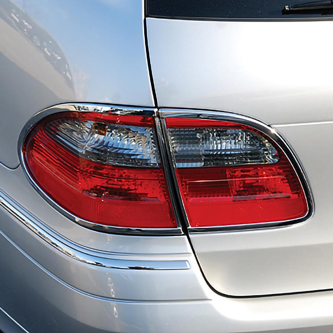 Χρώμια πίσω φαναριών για Mercedes Benz E-Class W211 T-μοντέλα από 2002 έως 2009