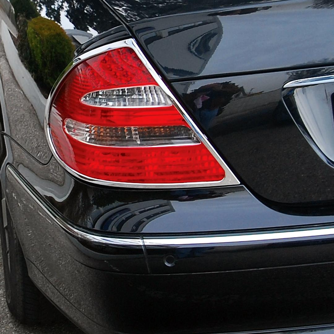 Χρώμια πίσω φαναριών για Mercedes Benz E-Class W211 λιμουζίνα από 2002 - 2009