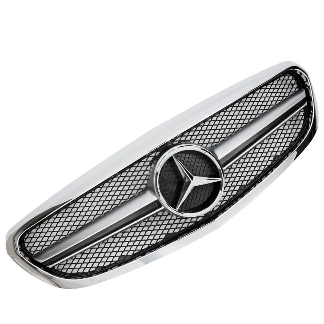 Μάσκα χρώμιο sport Look AMG για Mercedes Benz C-Class W205 από 2014-2018