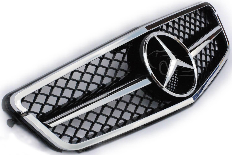 Μάσκα χρωμίου Look AMG για Mercedes Benz C-Class W204 (Πλάγια Όψη)