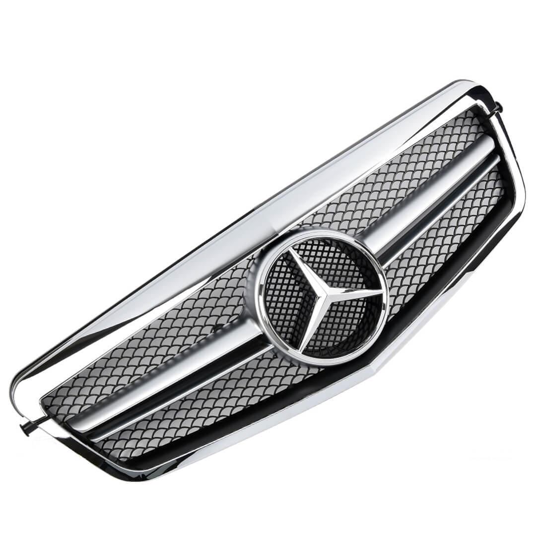 Μάσκα μαύρη / χρώμιο Look AMG για Mercedes Benz E-Class W212 έως 2013