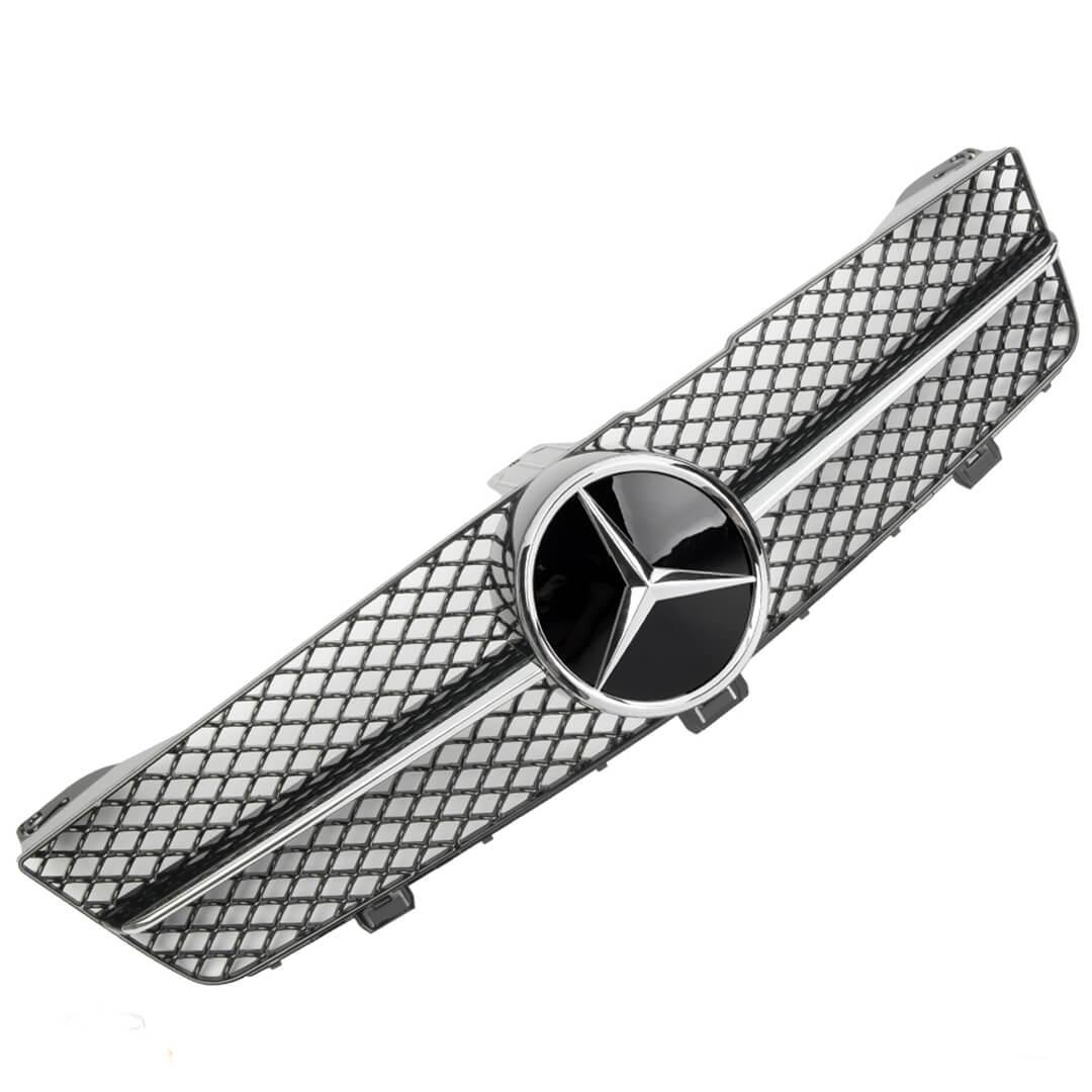 Μάσκα sport μαύρη / χρώμιο Look AMG για Mercedes Benz CLS W219 2008-2010