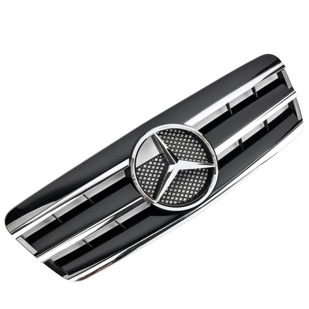 Μάσκα sport μαύρη Look AMG για Mercedes Benz CLK W208