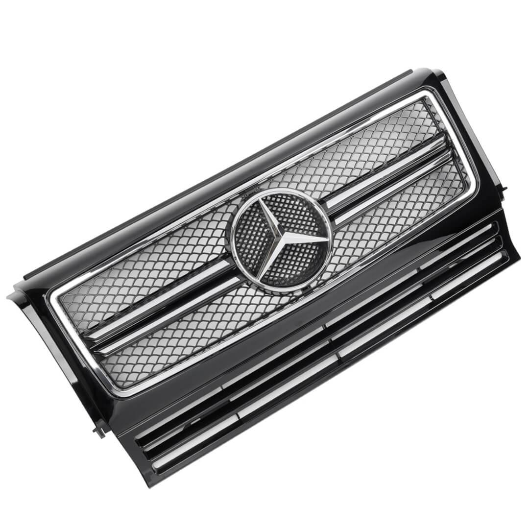 Μάσκα μαύρη / χρώμιο Look AMG για Mercedes Benz W463 G 1990-2012