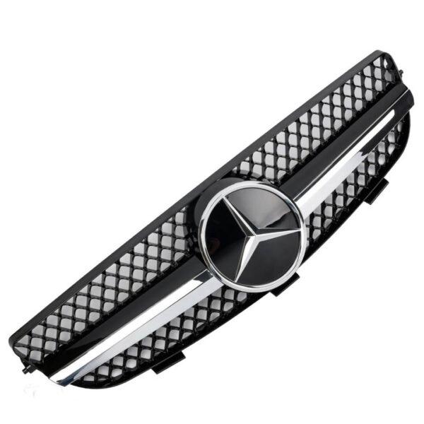 Μάσκα sport μαύρη / χρωμίου Look AMG για Mercedes Benz CLK W209