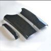 Ξύλινη επένδυση βραχιονίου Birdeye Black / Vogelaugenahorn για Mercedes Benz E-Class W211 με εγκατάσταση κινητού τηλεφώνου