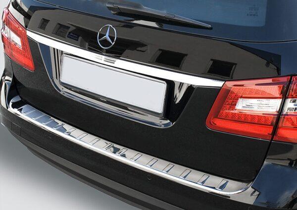 Ανοξείδωτο προστατευτικό πορτ μπαγκάζ για Mercedes Benz E Class W212 T μοντέλα S212 από 04/2009 έως 03/2013