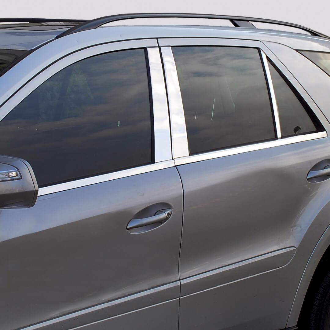 Ανοξείδωτη επένδυση για τις μεσαίες κολώνες για Mercedes Benz E-Class W211 λιμουζίνα από 03/2002 έως 03/2009.