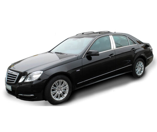 Stainless steel B-Pillar covers for E-Class W212 sedan car
