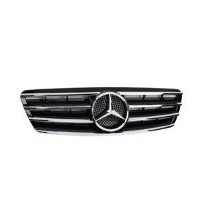 Μάσκα μαύρη με γρίλιες χρωμίου CL Look AMG για Mercedes Benz C-Class W203