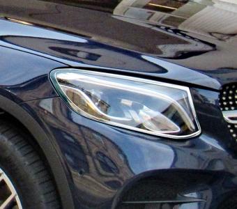 Χρώμια προβολέων για Mercedes Benz GLC C253 Coupé από 06/2015