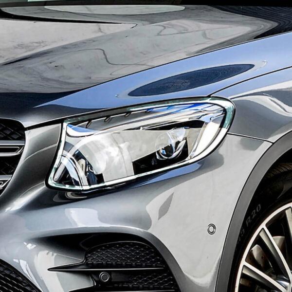 Χρώμια προβολέων για Mercedes Benz GLC X253 SUV.