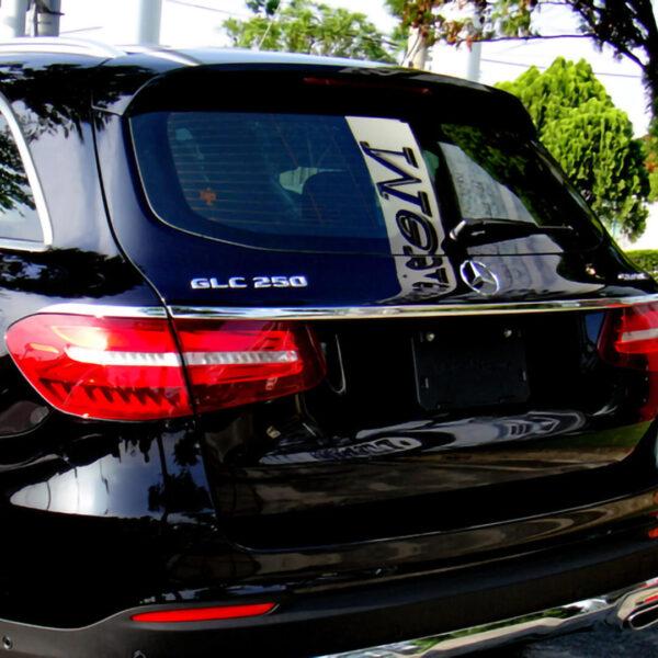 Χρώμιο λαβής πορτ-μπαγκάζ για Mercedes Benz GLC X253 SUV από 06/2015.