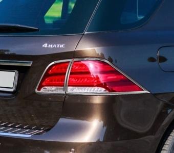 Χρώμια πίσω φαναριών για Mercedes Benz GLE W166 SUV από 12/2015